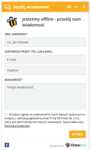 Chat w trybie offline a RODO
